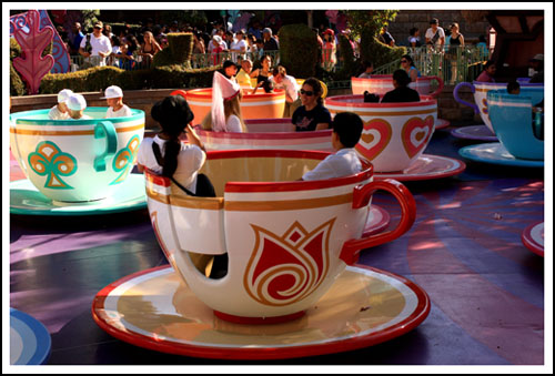spinning in a tea cup